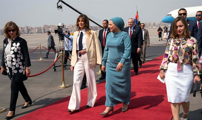 Melania Trump arrives in Egypt