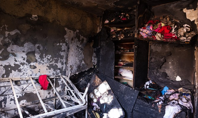 aftermath of Beitar Illit fire