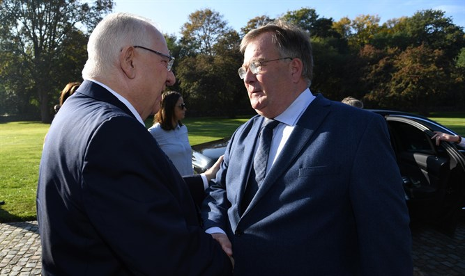 President Rivlin with Danish Defense Minister Claus Hjort Frederiksen
