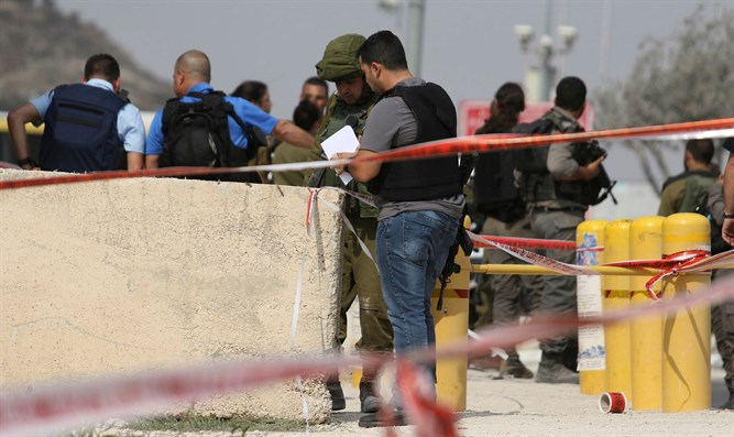 Scene of Samaria terror attack