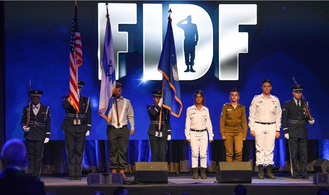 US and Israeli soldiers at 2017 FIDF gala