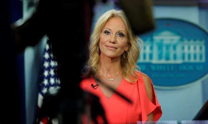 Kellyanne Conway speaks at the White House in Washington