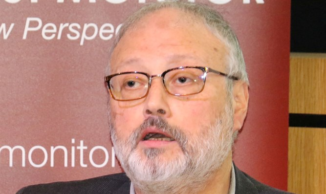 Saudi dissident Jamal Khashoggi speaks at an event hosted by Middle East Monitor
