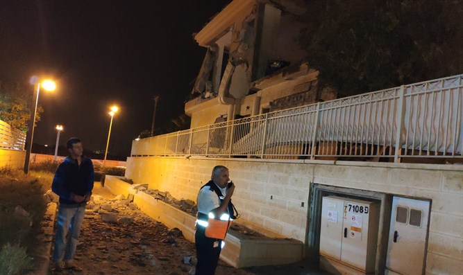 Scene of Be'er Sheva rocket attack