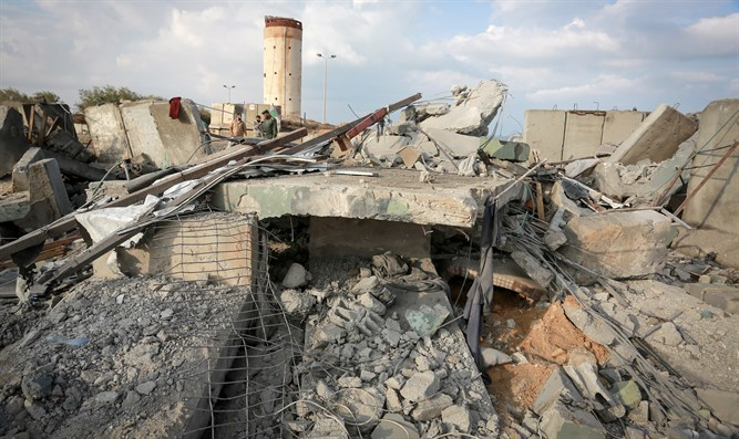 The aftermath of an IDF airstrike in Gaza