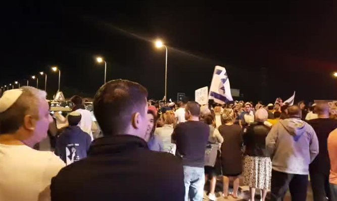Protest in southern Israel