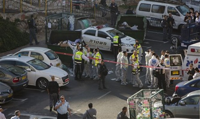 Scene of the Attack in Har Nof