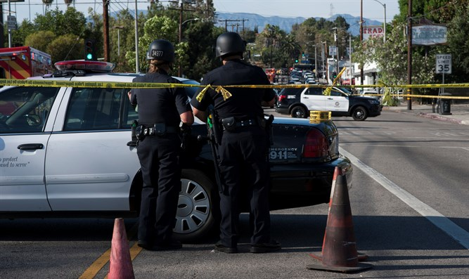 Police outside of shooting in California