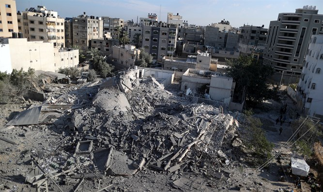 Gaza building hit by IDF airstrike