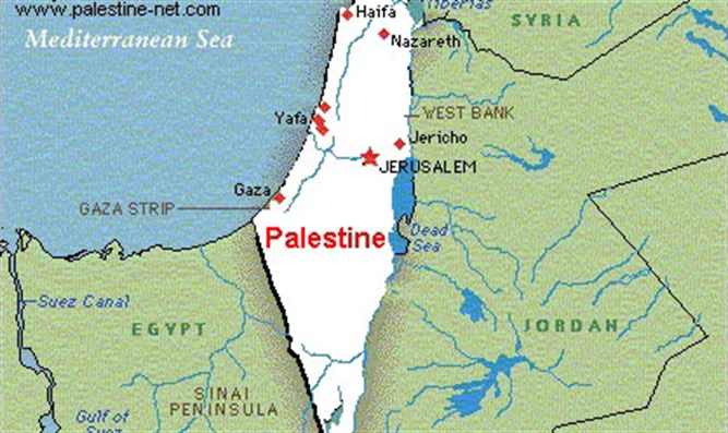 Israel erased from map