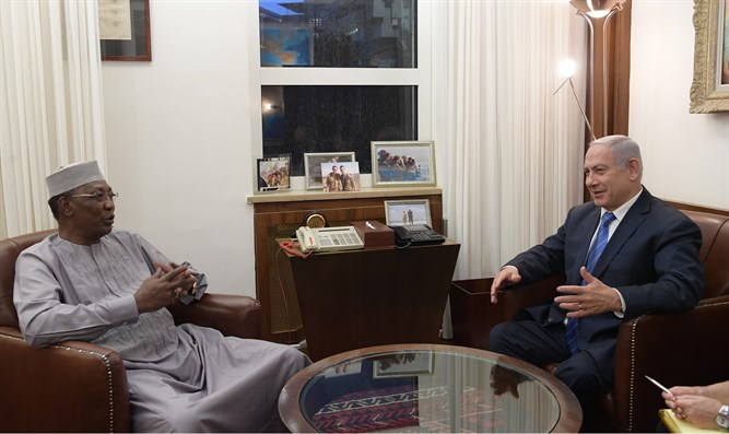 Netanyahu meets with Chad President Idriss Deby