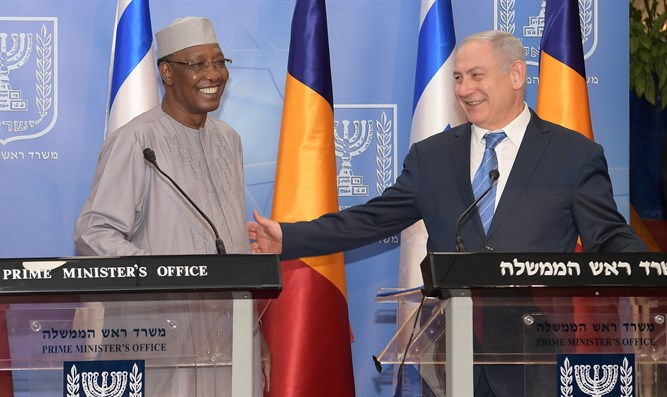 Netanyahu with President of Chad