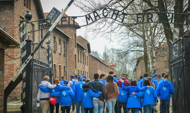 March of the Living at the Auschwitz-Birkenau camp site in Poland