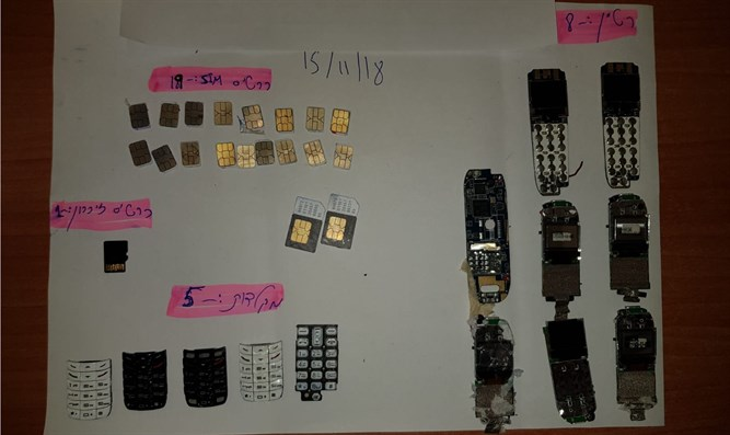 the phones and other items smuggled