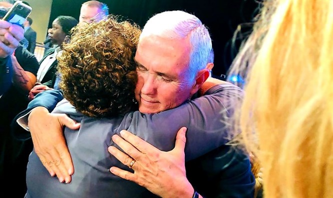 Miriam Peretz and Mike Pence
