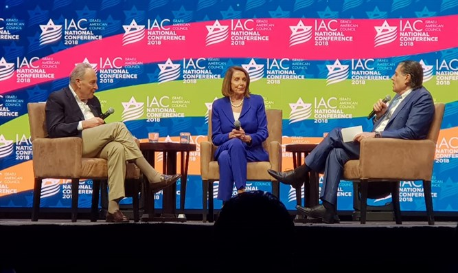 Saban, Pelosi and Schumer at IAC Conference in Miami