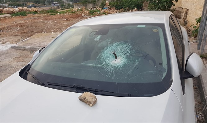 Car damaged in attack