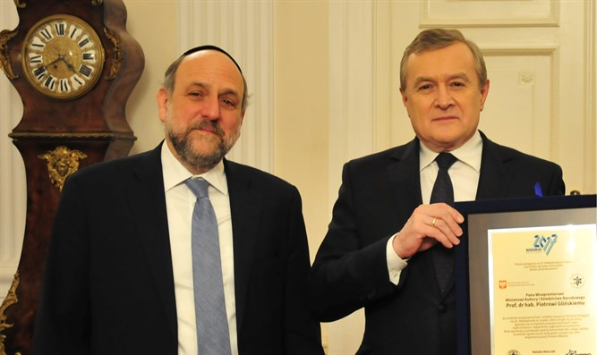 Rabbi Schudrich and Minister Gliński