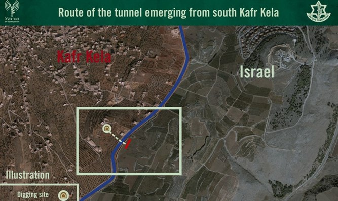 View of terror tunnel on Israel-Lebanon border