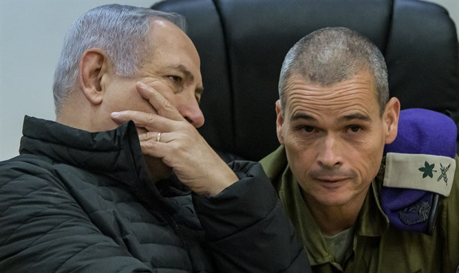 Netanyahu and Major General Yoel Strick, Commander of Northern Command