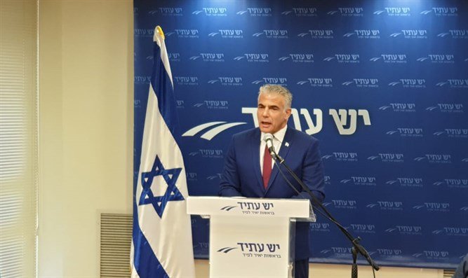 Yair Lapid at press conference
