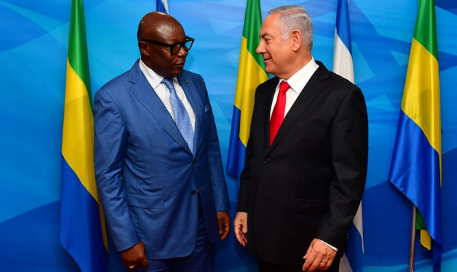 Netanyahu meets with Gabon VP Dr. Pierre-Claver Maganga Moussavou