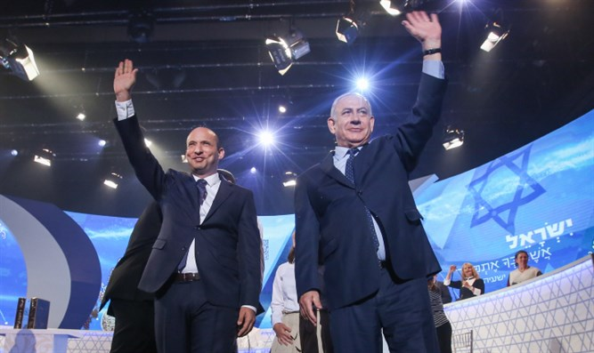 Naftali Bennett and Binyamin Netnayahu at 2018 Bible Quiz