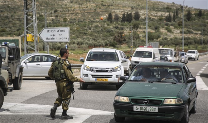 IDF soldiers near Maaleh Levona following attack (archive)