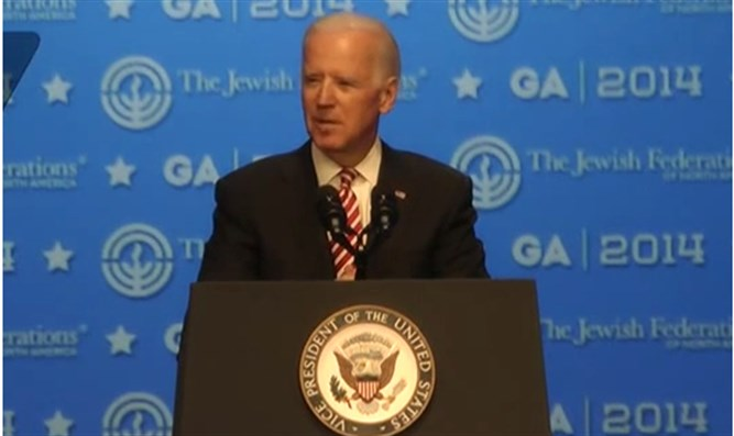 Joe Biden speaks to Jewish Federations of North America