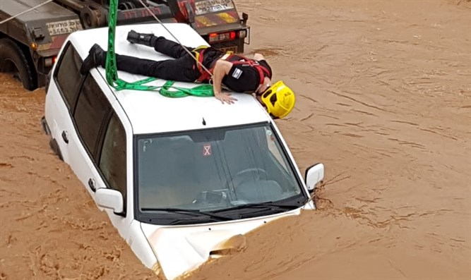 Rescue operation in Nahal Hilazon