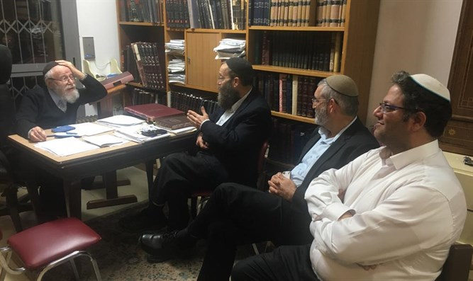 Leaders of Otzma Yehudit with Rabbi Lior