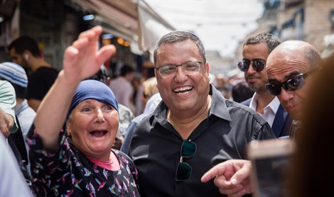 Moshe Lion visits Machane Yehuda market in Jerusalem
