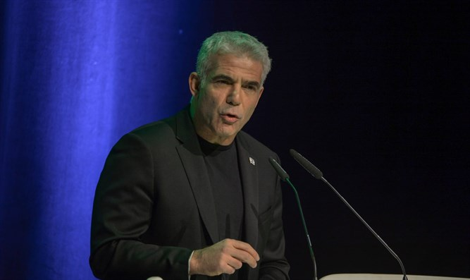 Yair Lapid at Movement for Quality Government conference in Modi'in