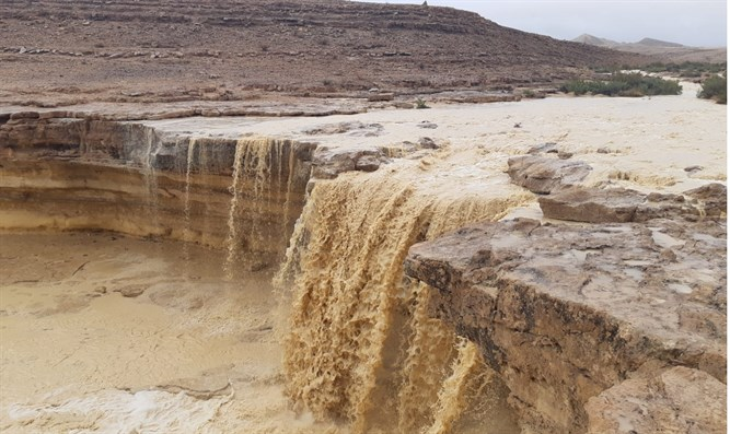 Negev river flows