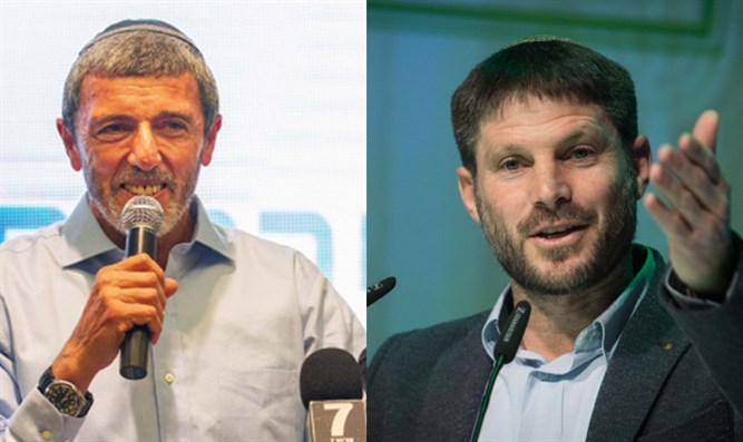 Rafi Peretz (left), and Betzalel Smotrich (right)