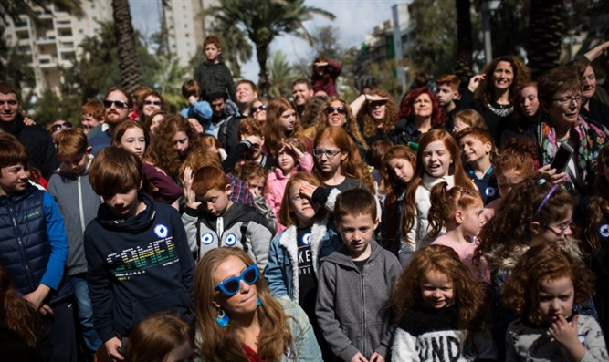 Hundreds of redheads gather in Holon