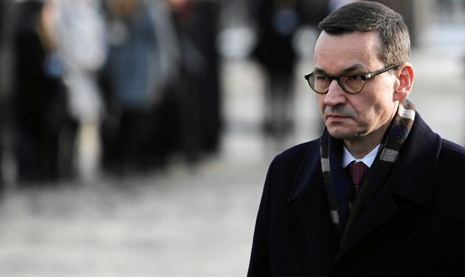 Mateusz Morawiecki at January 2019 event marking liberation of Auschwitz
