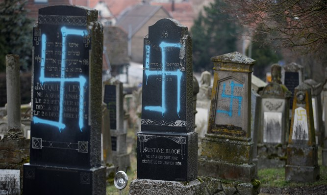 Jewish cemetery vandalized with swastikas in Quatzenheim, in east France