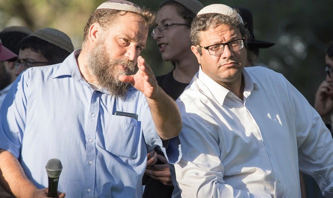 Bentz Gopshtein (left), Itamar Ben-Gvir (right)
