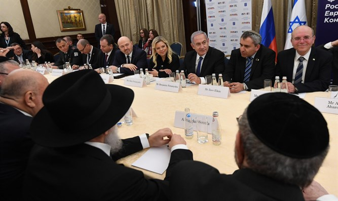 Netanyahu meets Russian Jewish community leaders in Moscow