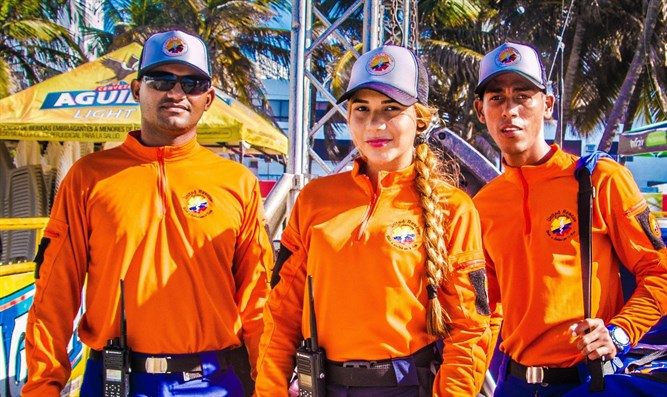 United Rescue/United Hatzalah volunteers in action in Cartagena, Colombia