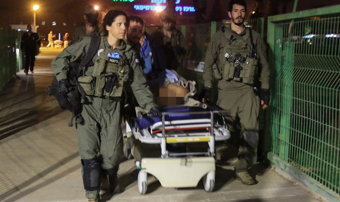 Evacuating victims of the K'tziot terror attack