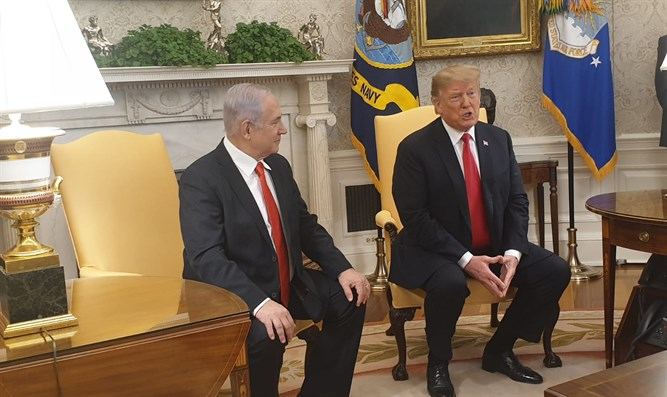 Trump and Netanyahu in the White House
