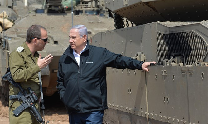 Netanyahu during visit to Gaza border area