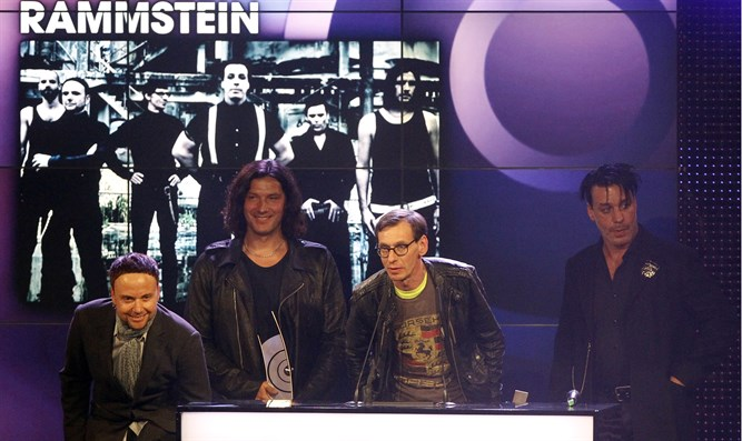 Rammstein band members at Echo Music Awards