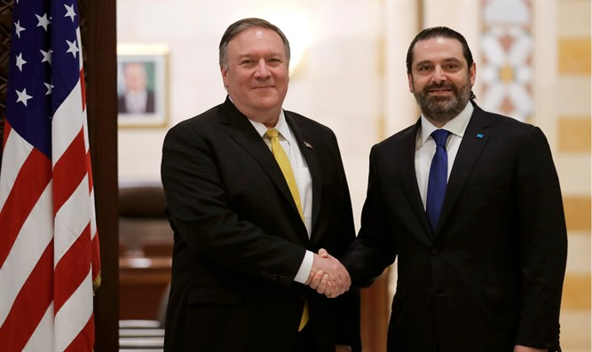 Mike Pompeo and Saad Hariri