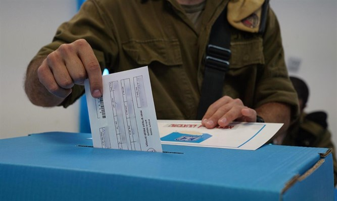 Voting at IDF bases