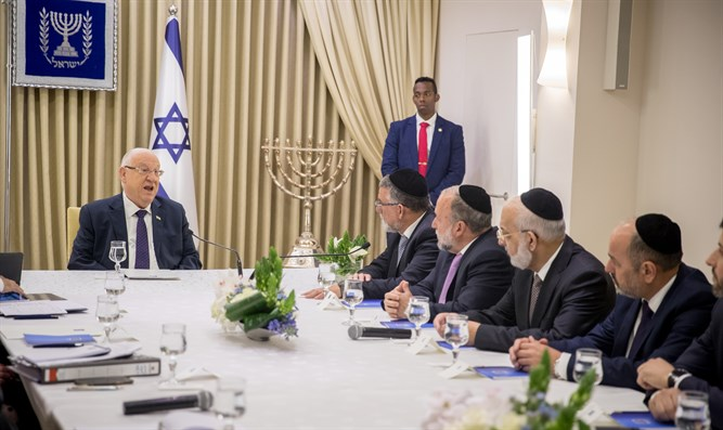 Shas MKs meet with Pres. Rivlin
