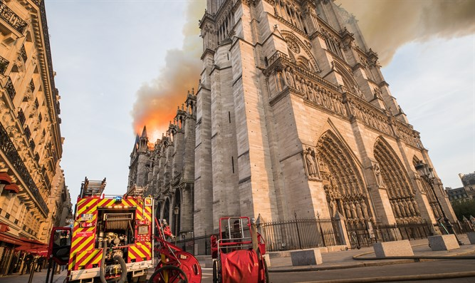 fire at Notre-Dame