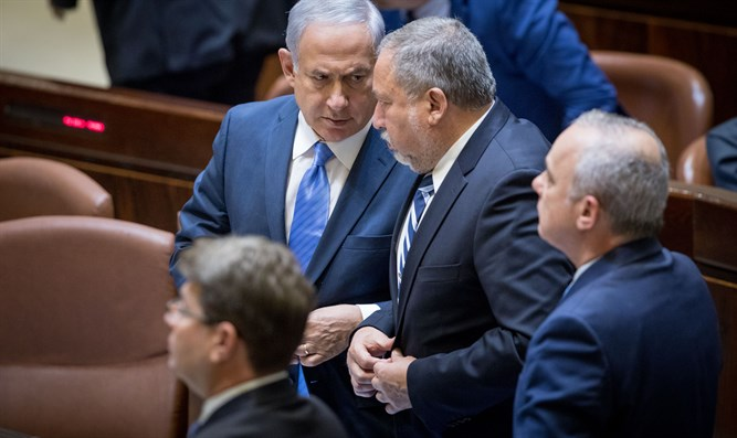 Netanyahu and Liberman (archive)